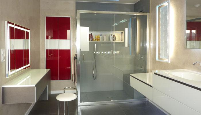 salle de bains en pierre de lave offre d'infinies possibilités de
